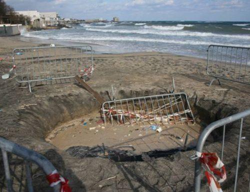 Erosione costiera, il mare ingoia Casalabate