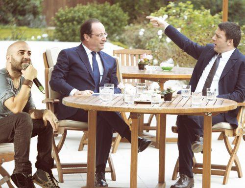 """Renzi: """"Porto la musica di Giuliano Sangiorgi sempre con me, anche a tavola con Hollande"""""""