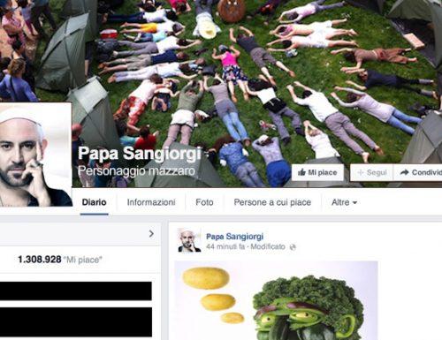 La pagina Facebook di Papa Sangiorgi violata da hacker vegani