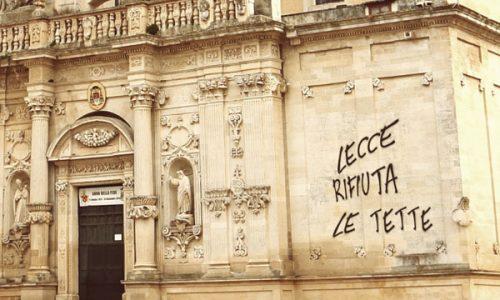"""Ancora scritte sulla facciata del Duomo. Satana si difende: """"Ero a Frigole"""""""