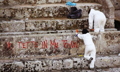 Ancora scritte nell'anfiteatro romano di Lecce e partono i provvedimenti a priori