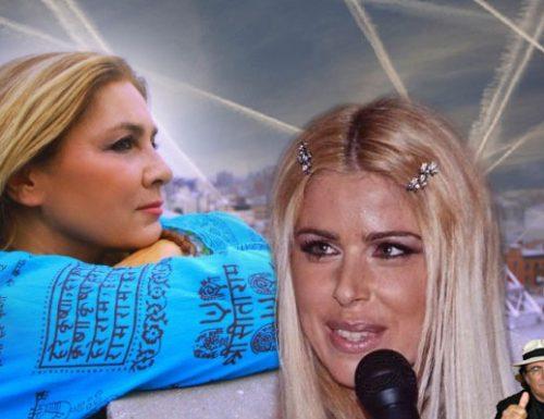 Loredana Lecciso canta l'inno contro Romina Power che canta l'inno contro le scie chimiche