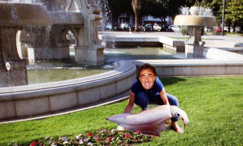 Il calamaro della fontana di Piazza Mazzini, l'icona dell'umidità leccese rischia di sparire