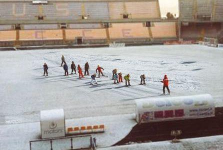 Neve al Via del Mare di Lecce: i giovani della 167 sciano e apprezzano il clima voluto da Salvini