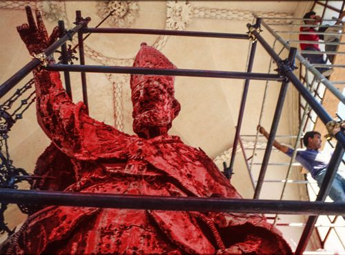 Natale speciale per Sant'Oronzo, il patrono di Lecce Lecce si tinge di rosso cupeta