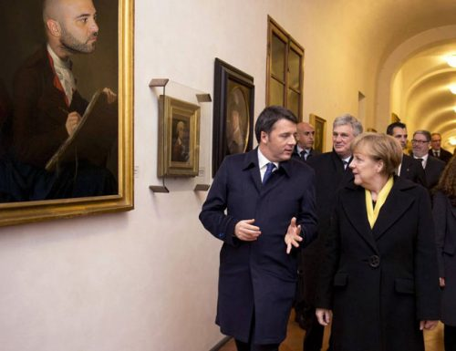 Vertice Renzi-Merkel agli Uffizi, la tedesca affascinata dai maestri copertinesi del '900