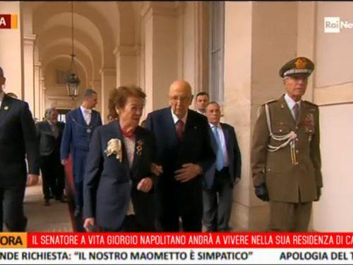 Napolitano si è dimesso: «Felice di tornare nella mia residenza di Castro Marina»