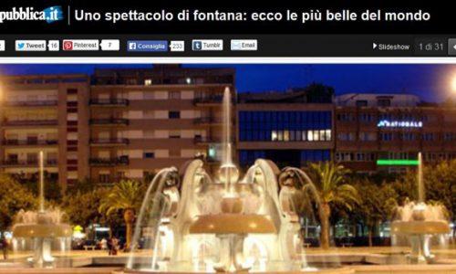 Fontane più belle del mondo, c'è anche Piazza Mazzini, un lusso per la Lecce barocca