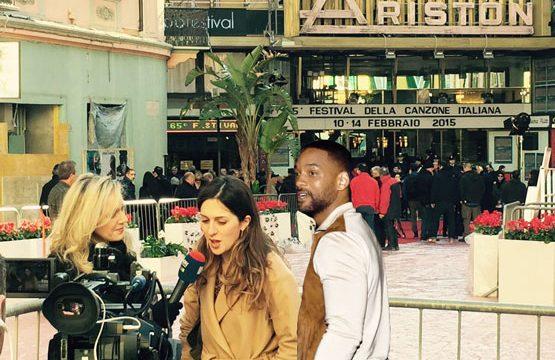 Sanremo2015: Will Smith seduce la leccese Carolina Bubbico con l'accento di San Pio