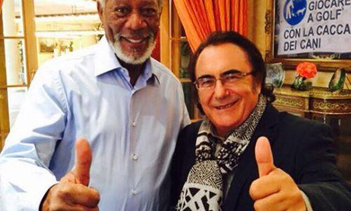 Albano scambia Morgan Freeman per un venditore ambulante e si compra una sciarpa