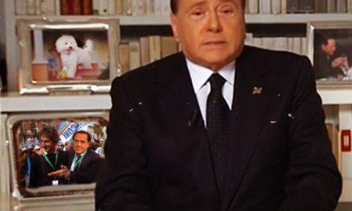 Berlusconi contro il Pd al Tg5, nelle foto Dudù e Paolo Perrone