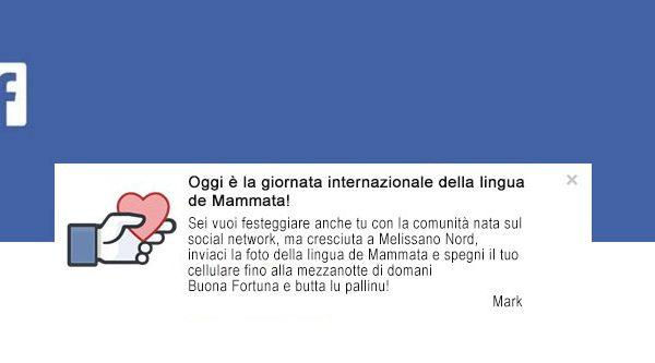Facebook festeggia la Giornata Internazionale della Lingua de Mammata