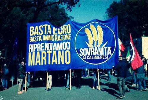In piazza a Roma arriva anche il movimento Sovranità ai Calimeresi