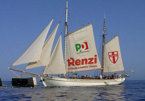 Ancora maltempo, il veliero di Matteo Renzi costretto a fare scalo a San Cataldo