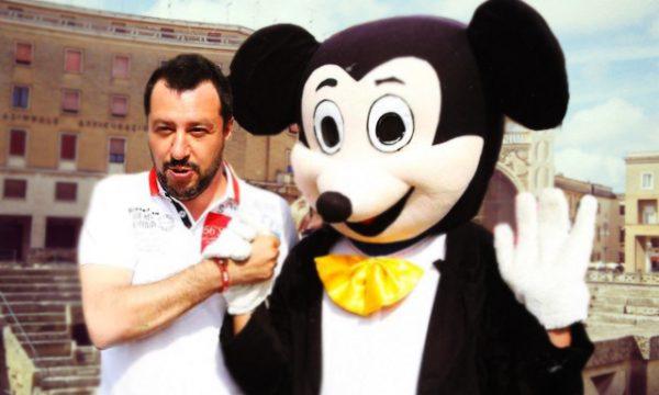 Matteo Salvini arriva a Lecce e presenta il suo candidato alle Regionali salentine