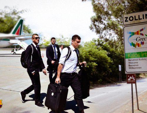 Berlino, il maltempo minaccia la finale e la Juventus atterra a Zollino