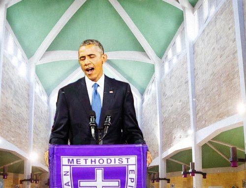 Barack Obama canta Lu carcere è galera alla chiesa di Santa Rosa