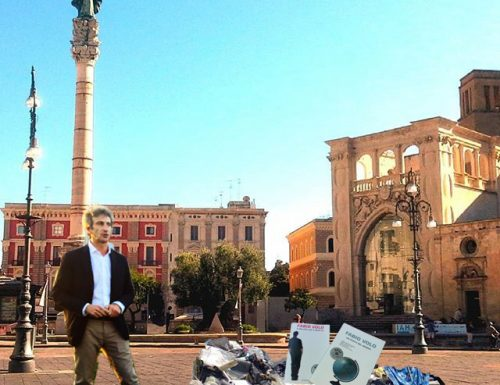 Inaugurata una nuova montagna di rifiuti nel centro di Lecce