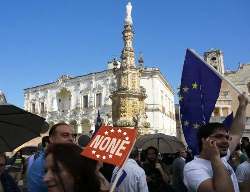 Anche Nardò vuole uscire dall'Europa, ma in paese c'è chi dice None