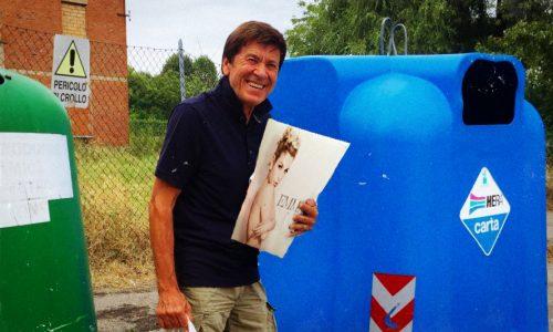 Morandi ancora protagonista a Surbo, salva un vinile di Emma dalla raccolta differenziata