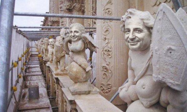 Restauro di Santa Croce: durante il restauro gli operai scoprono le sculture del Dio Magalli