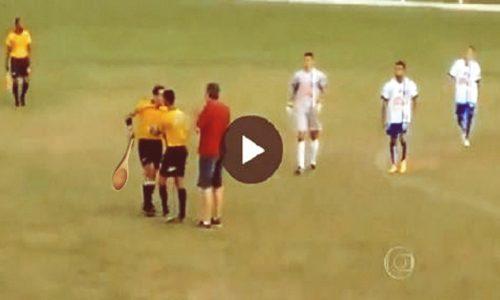 Maracanà di Casarano: troppe questioni in campo, l'arbitro estrae la cucchiara