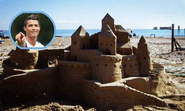 Cristiano Ronaldo acquista un castello di sabbia extra lusso a San Cataldo