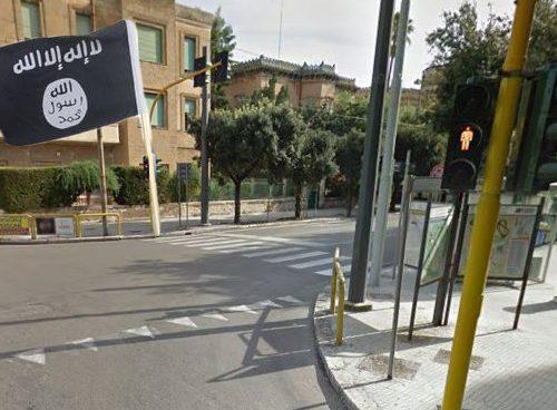 L'Isis rivendica il semaforo del bar rosso e nero