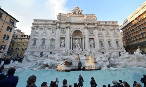 Torna l'acqua a Fontana di Trevi, dopo il restauro riaffiorano le Due Sorelle