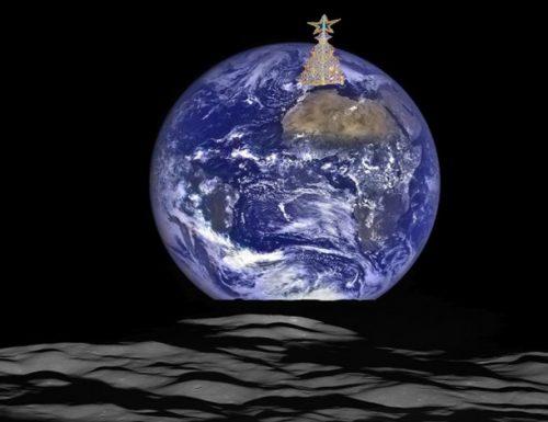 L'albero di Luminarie leccese sorge sulla Luna: lo scatto mozzafiato della Nasa