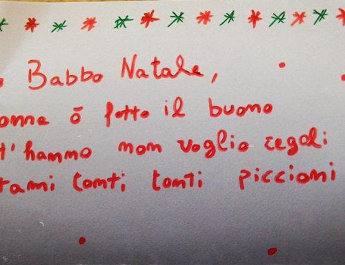 La commovente letterina a Babbo Natale del bambino di Surbo che non desidera doni