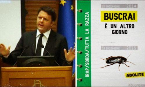 Dopo le slide coi Gufi, Matteo Renzi presenta quelle con le Malotule