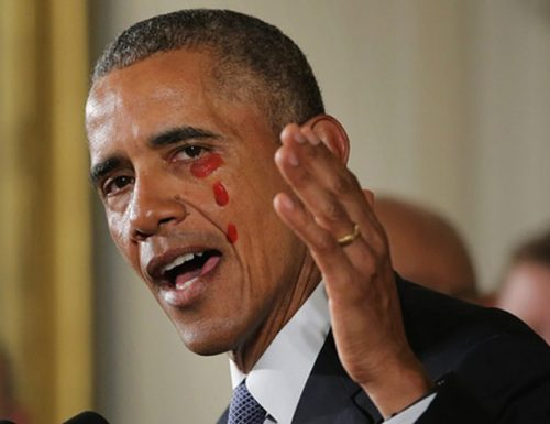 Obama come la Madonna di Leverano, le sue lacrime si fanno Mieru