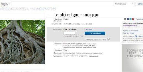 All'asta su Ebay le radici di Nandu Popu