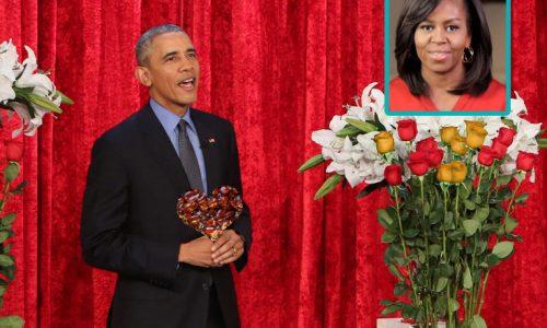 Cuore di cupeta e rose giallorosse, il messaggio di San Valentino di Obama a Michelle