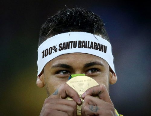 Olimpiadi: Neymar dedica la vittoria del Brasile a Santu Ballaranu