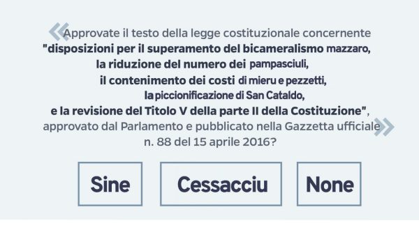 Referendum Costituzionale: Salentini ancora indecisi, voteranno Cessacciu