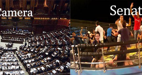 Se vince il SINE al referendum il Senato sarà sostituito dal Tagadà