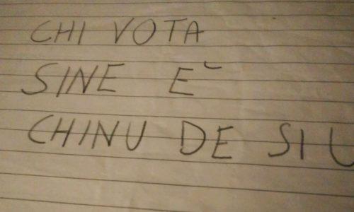 """""""Chi vota Sì è Chinu de Sìu"""" è polemica a Nardò per una frase scritta da un ex Magghiato"""