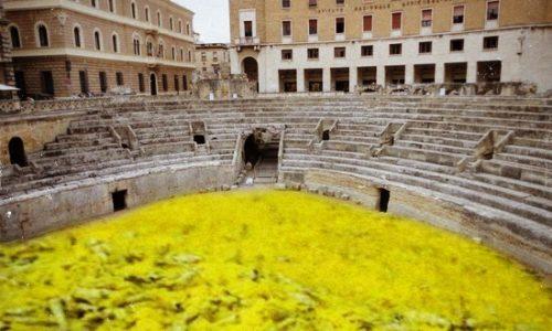 Maltempo e gelo nel Salento: Fiocchi di Scapece ricoprono l'anfiteatro