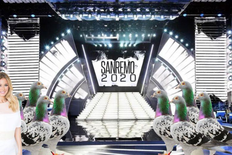 Sanremo 2020: sul palco i rinomati piccioni di Gallipoli al posto dei fiori per evitare polemiche abbuecchiu